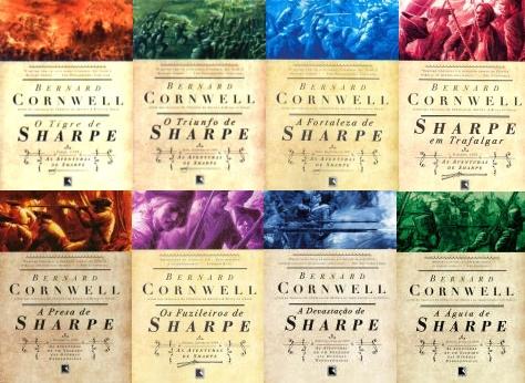 Eis os já publicados pela Record: O Tigre de Sharpe, O Triunfo de Sharpe, A Fortaleza de Sharpe, Sharpe em Trafalgar, A Presa de Sharpe, Os Fuzileiros de Sharpe, A Devastação de Sharpe e A Águia de Sharpe